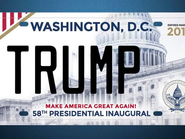 Donald Trump Will Issue An Inaugural License Plate After All