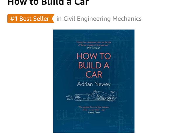 PSA Adrian Newey is doing a book, pre-order on Amazon
