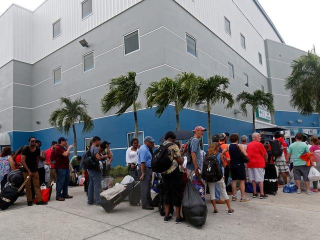 Animais de estimação, casas e mudanças nas previsões afetam as evacuações de Irma