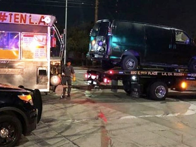 LAPD Will Even Tow a Taco Truck From a Street Race