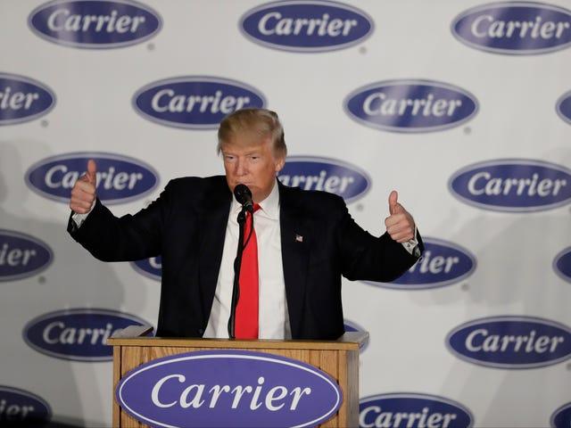 Trump May henkilökohtaisesti voittoa Carrier Corporation Tax Break