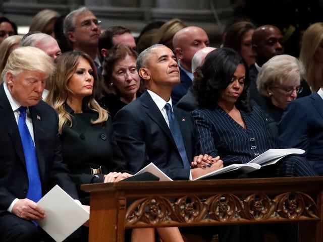 Donald Trump có sự ghen tị với tang lễ