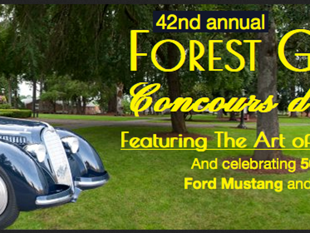 Save the Date: Forest Grove Concours d'Elegance- Sunday, July 20, 2014