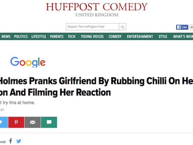 HuffPo Publishes, Deletes Video of Man Secretly Rubbing Chili on Girlfriend's Tampon