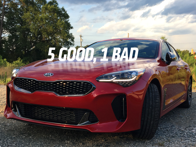 Five Good Things About The 2018 Kia Stinger GT And One Bad Thing