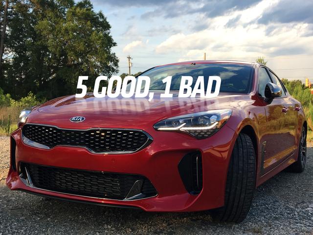 Pięć dobrych rzeczy o 2018 Kia Stinger GT i One Bad Thing