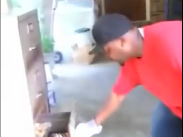 This Man Cooking On A File Cabinet Grill Is The Blackest Thing I've Ever Seen This Week