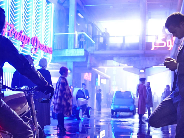 Our First Look at the Neon Noir World of Duncan Jones' New Movie Mute