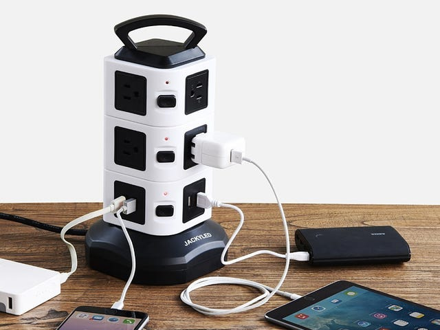 Plug In All Of Your Stuff With This $18 Power Tower