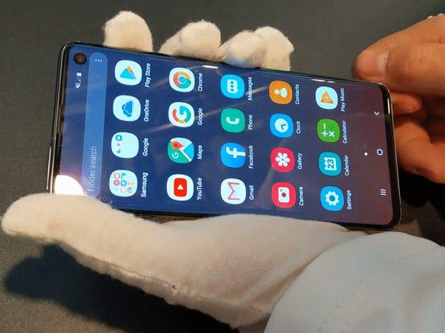 En gennemsigtig sag kan låse fingeraftrykslæser på Samsung Galaxy S10 og Note 10