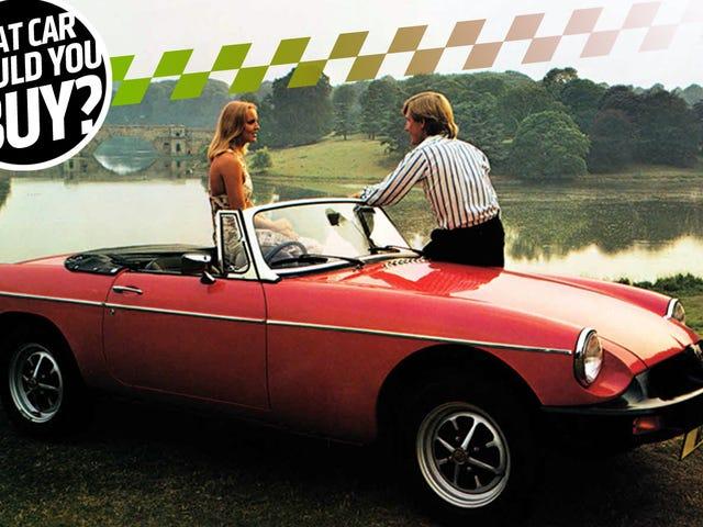 Vanha MG Roadster ei ole paras auto vauvalle!  Mitä autoa minun pitäisi ostaa?