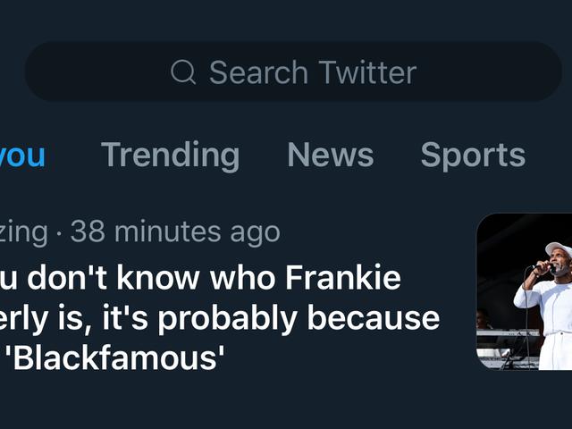 जाहिर है, व्हाइट लोगों को कोई आइडिया नहीं था जो फ्रेंकी बेवर्ली ब्लैक ट्विटर सिखाया गया था