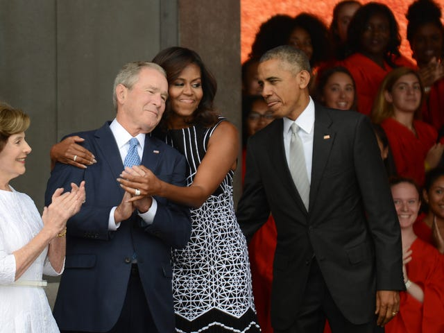 George W. Bush Is Just Like All of Us, He Desperately Wants to be Friends With Michelle Obama, Too