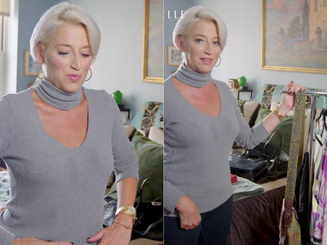 Dorinda ser ud til at have farvet en af hendes foretrukne grå tops
