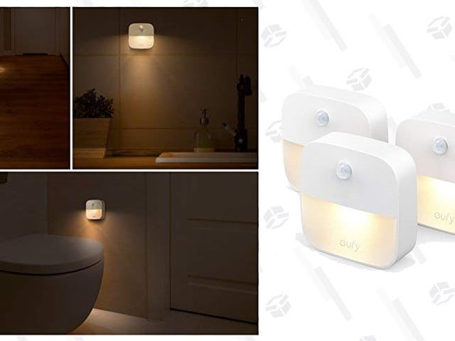 Get Three Motion-Sensing Night Lights For $11, No Electric Outlet Required