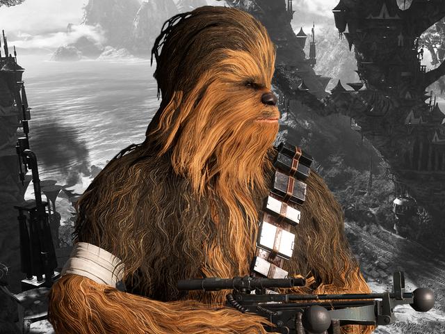 Les joueurs et les développeurs de <i>Star Wars Battlefront II</i> rendent hommage à Peter Mayhew, acteur de Chewbacca