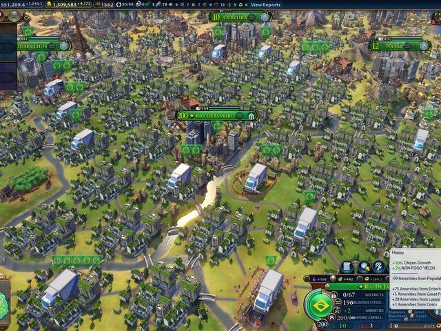 <i>Civilization VI</i>City Has Over Two Billion People