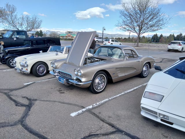 """61 Corvette """"fuelie"""" (and a Countach if you're into that sort of thing.)"""