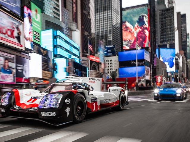 Porsche lái chiếc Le Mans đã nghỉ hưu của mình giành chiến thắng 919 Prototype qua Manhattan để làm cho chúng ta buồn bã lần nữa