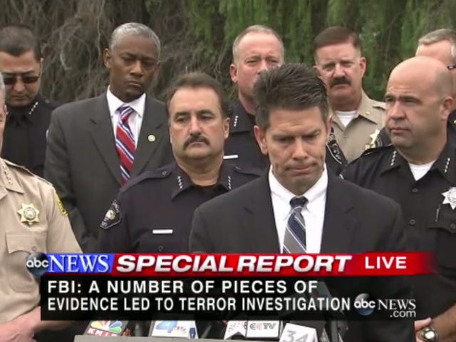 FBI: San Bernardino Mass Shooting Now Being Investigated as an 'Act of Terror'