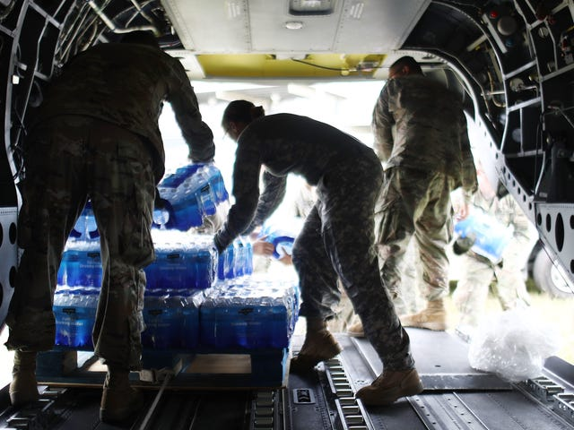 Here's What We Know About All That Bottled Water Abandoned in Puerto Rico [Updated]
