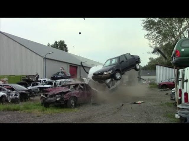 Watch Europeans Try To Kill An Old Volvo And Fail