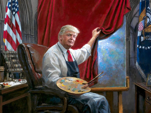 What's Going On In This Donald Trump Fan Art?