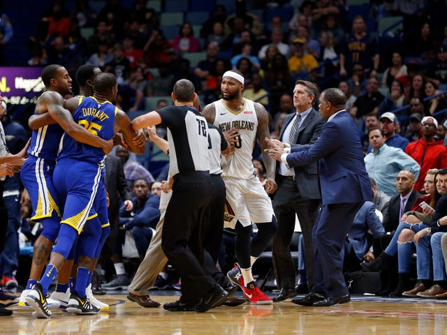 Savor The Mental Image Of Kevin Durant Hiding From An Enraged Boogie