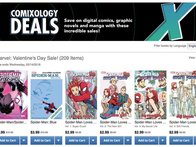 Show Your Comic Collection Some Love With Comixology's Valentine's Day Sales