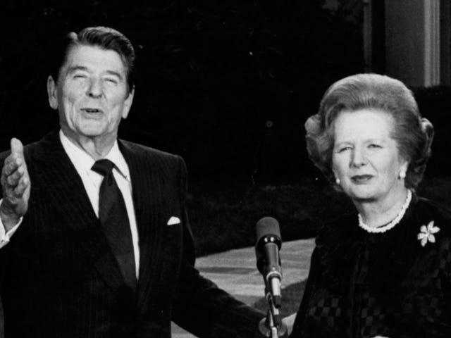 Ronald Reagan a essayé de parler Margaret Thatcher en lecture Tom Clancy