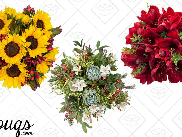 Spread Double the Cheer with Double the Flowers from The Bouqs