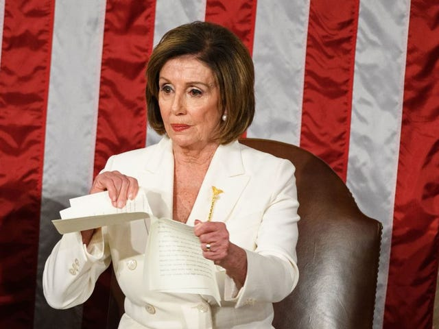 Trump Refused to Shake Nancy Pelosi's Hand and Other Petty Moments From the State of the Union