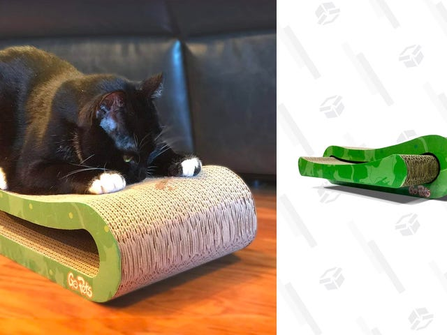 Let Your Cat Sink His Claws Into This $16 Cardboard Scratcher