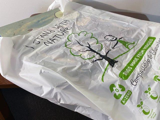 可生物降解和可堆肥的A-零袋可能是塑料袋禁令的环保解决方案