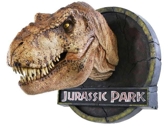 美しく詳細なT-Rexバストは、 <i>Jurassic Park</i>からの恐竜型を使って作成されました