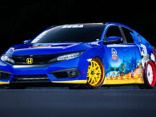 Tämä Civic ei todennäköisesti ole yhtä nopea kuin Sonic The Hedgehog, mutta se on varmasti söpö