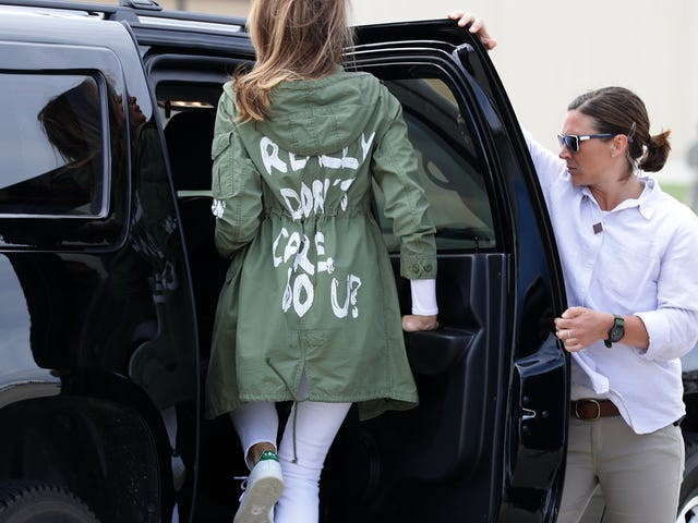Melania Trump Not Only Wore a Dumb Jacket; She Had This Sage Advice for Separated Children: 'Good Luck'