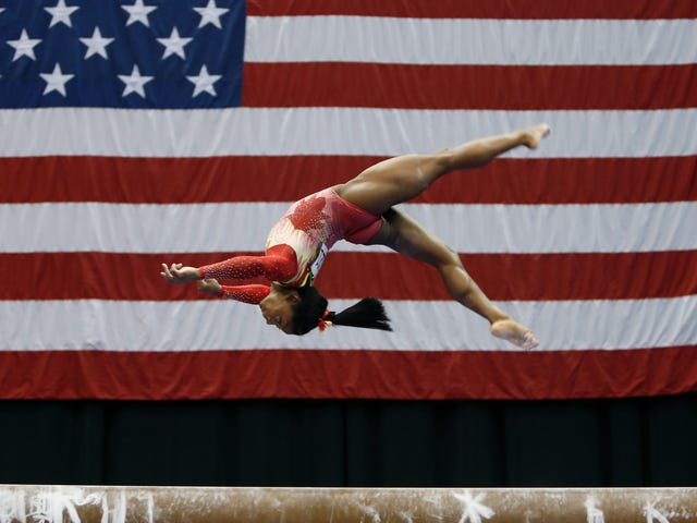 Simone Biles Cruises To A Win In Her Return To Competition