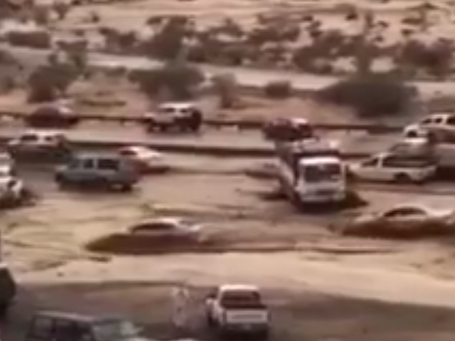 Watch This Saudi Arabian Highway Become A Raging Torrent In Seconds