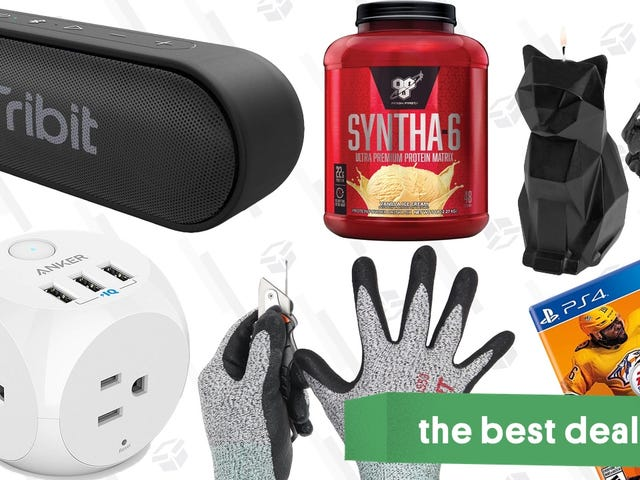 Friday's Best Deals: Anker Charging Cube, Cut Resistant Gloves, Protein Powder, and More