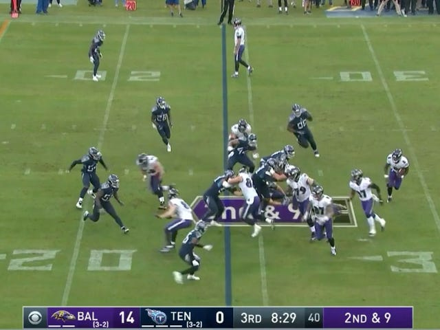 Joe Flacco Has Somehow Found A Way To Stand Even Stiller As A Wide Receiver