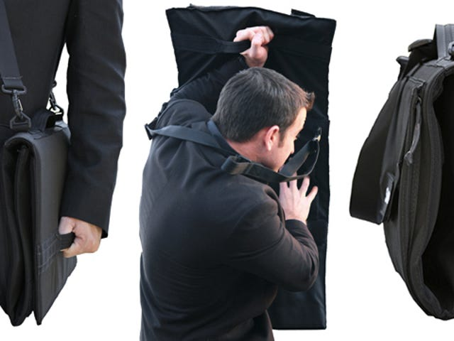 This Bullet-Proof Briefcase Unfolds Into a Personal Shield