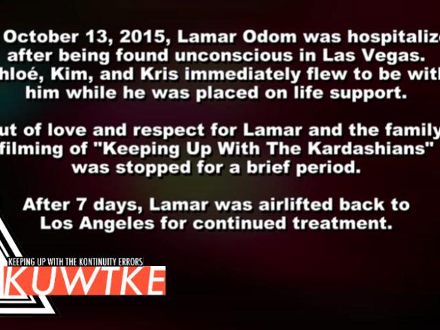 Bijblijven met de continuïteit Fouten: de Kardashians Ever-So-kort stoppen met het filmen voor Lamar