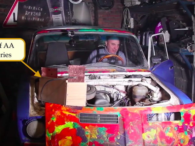 Man Replaces Car Battery With Box of AAs and It Actually Works