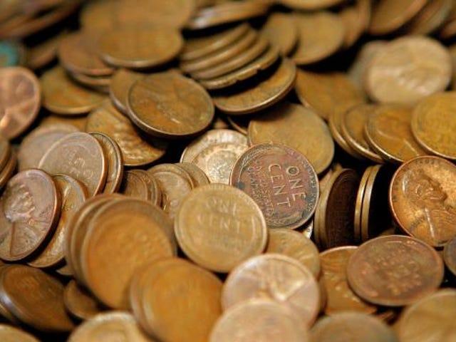 La. Man encaisse 500 000 penny collectés en 45 ans