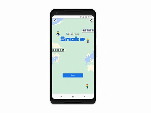 Snake Gets Lagt til Google Maps