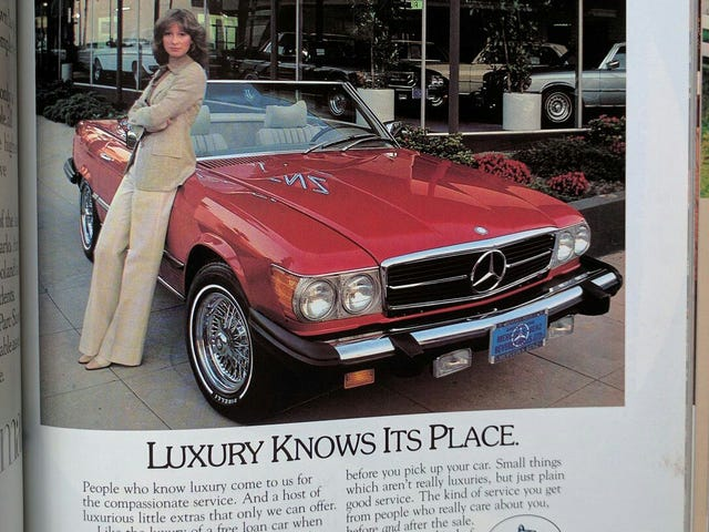 A woman's place...in a Hollywood Mercedes