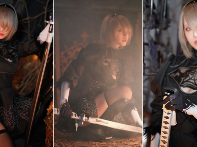 Adult Video Star Does A Very Good Nier: Automata Cosplay