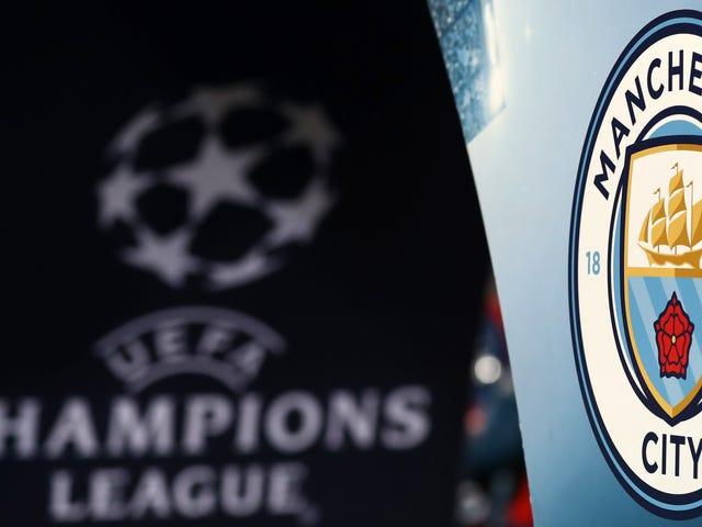 Manchester Cityn kasvot Mestarien liigan kieltäminen UEFA: n Dumb-sääntöjen rikkomisesta