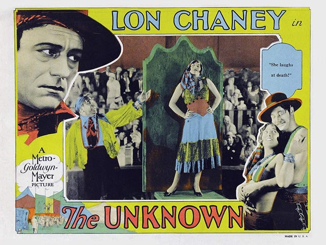 Silent Saturday: The Unknown (1927)